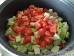Соте из овощей (в мультиварке): Выложить в чашу все овощи.