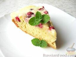 Малиновый пирог с нежным сметанным кремом