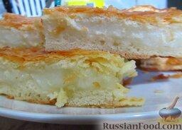 Фытыр по-египетски (слоеный пирог с заварным кремом): Египетский фытыр (пирог из слоеного дрожжевого теста с заварным кремом) готов.    Приятного чаепития!