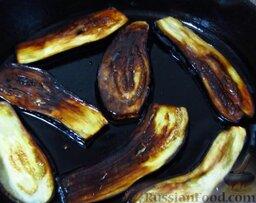 Курдан кебаб (котлеты, завернутые в баклажаны): Обжарьте баклажаны с обеих сторон.