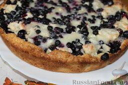 Пирог с черникой и творогом: Получился очень нежный и вкусный черничный пирог. Можно угощать гостей!