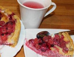Пирог с малиной: Приятного аппетита!