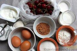 """Пирог """"Вишневое полено"""" с творожным кремом: Приготовим необходимые продукты и приступим к приготовлению торта"""
