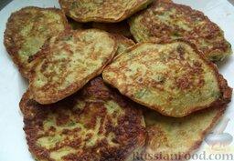 Сладкие оладушки из кабачков  (без яиц)