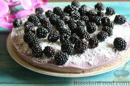 Торт-мусс из ежевики с йогуртом (без выпечки)