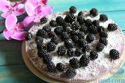Торт-мусс из ежевики с йогуртом (без выпечки): Вкусный йогуртовый торт без выпечки из свежей ежевики уже можно подавать к праздничному столу!