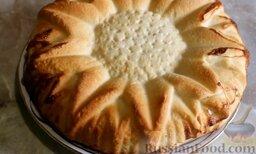 Дрожжевой пирог с творожно-тыквенной начинкой
