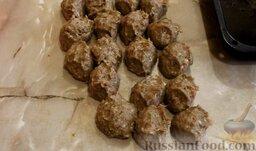 Котлеты из свинины с баклажанами, запеченные в духовке: Сделать заготовки для котлет примерно одинакового размера.
