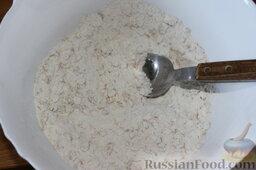 Баварский грушевый пирог: Как приготовить баварский грушевый пирог:  Смешать муку, геркулес и сахар.