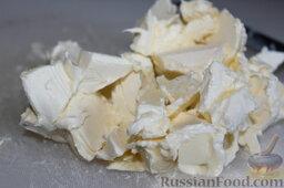 Баварский грушевый пирог: Масло порезать на мелкие кусочки.