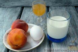 Парфе с персиком и медом: Подготовьте все ингредиенты для приготовления фруктового парфе.