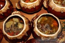 Куриные сердечки с овощами и грибами (в горшочке): Куриные сердечки в горшочках готовы.