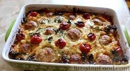 Картофельная запеканка с фрикадельками: Картофельная запеканка с фрикадельками готова.