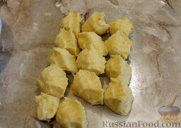 Картофельные биточки: Сделать заготовки для биточков.
