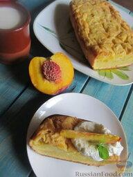 Заварной пирог «Бразильский» с персиками