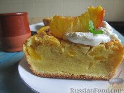 Заварной пирог «Бразильский» с персиками: Приятного аппетита!
