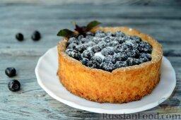 Ягодный тарт с черникой и белковым кремом: Ягодный тарт с черникой и белковым кремом готов.  Приятного аппетита!