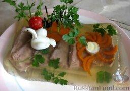 Заливное из говядины: Заливное из говядины можно подавать к столу. Готовьте с удовольствием!