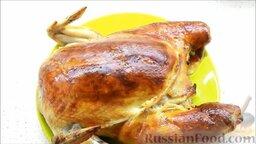 Курица, фаршированная блинами: Курица по-царски готова!