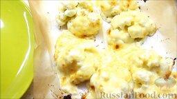 Цветная капуста под соусом бешамель: Цветную капусту отправить в духовку на 4 минуты и готовить при температуре 220 градусов.  Цветная капуста под соусом бешамель готова!