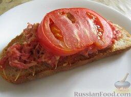 """""""Ложная"""" пицца на хлебе"""