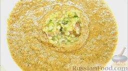 Гаспачо (холодный томатный суп): Убрать кулинарное кольцо.