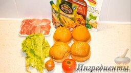 Чизбургер: Подготовить ингредиенты для приготовления домашнего чизбургера.