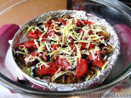 Остренькие баклажаны в аэрогриле: Посыпьте сыром и аэрогриль на минуту накройте крышкой, чтобы сыр растаял, пока там еще тепло.