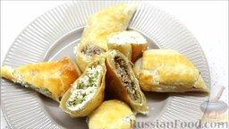 Пирог с двумя начинками: с брынзой и мясным фаршем: Приятного аппетита!