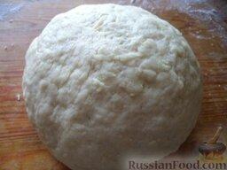 Печенье на рассоле: Замесите мягкое тесто из муки, соли, маргарина и майонеза.