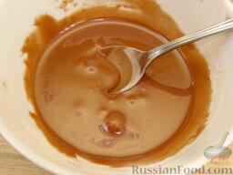 Глазурь с какао: Быстро перемешать смесь до однородности.