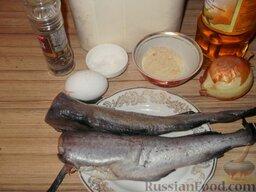 Минтай жареный по-калининградски: Продукты для приготовления жареного минтая.