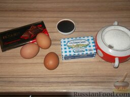 Крем для шоколадного торта: Подготовить продукты на шоколадный крем для торта.