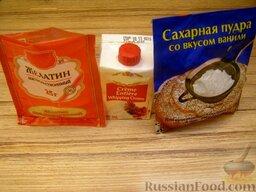Крем из сливок: Подготовить продукты для приготовления крема из сливок  для торта.  Сливки, венчики миксера и миску, в которой будут взбивать сливки, охлаждают в холодильнике (до двух градусов).