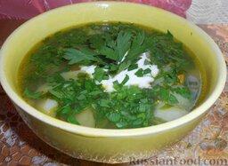 Суп картофельный со щавелем
