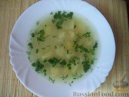 Суп картофельный с вермишелью