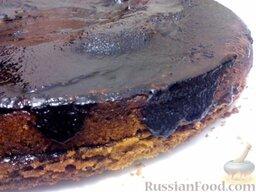 Глазурь фирменная: Шоколадная глазурь для торта готова. Применение: покрыть торт глазурью и поставить в холодильник.  Приятного аппетита!