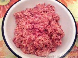 Ленивые голубцы (6 порций): Как приготовить ленивые голубцы:    Свинину, говядину или смешанное мясо пропустить через мясорубку (если мясо нежирное, добавить немного любого жира). Я использую готовый свино-говяжий фарш.