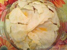 Ленивые голубцы (6 порций): Накрыть третьим слоем капусты.