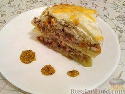 Ленивые голубцы (6 порций): Подавать голубцы ленивые к столу, разрезая на куски, как пирог.