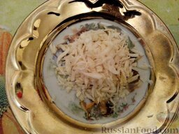 Ленивые голубцы (6 порций): Корень петрушки вымыть, очистить, натереть.