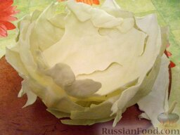 Ленивые голубцы (6 порций): Капусту вымыть. Отделить листья.