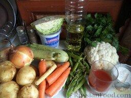 Овощное рагу: Продукты для приготовления овощного рагу перед вами.