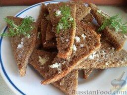 Гренки из ржаного хлеба с чесноком: Гренки из ржаного хлеба с чесноком готовы.  Приятного аппетита!