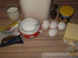 Пирожное «Буше», глазированное шоколадом: Подготавливают продукты для приготовления пирожного «Буше».