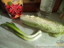 Салат из пекинской капусты: Продукты для рецепта перед вами.