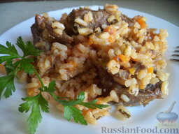 Плов грузинский: Плов грузинский готов.  Приятного аппетита!