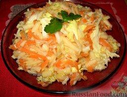 Салат из пекинской капусты и свежей моркови