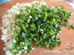 Фарш с зеленым луком и яйцом: Как приготовить фарш с луком и яйцом:    Зеленый лук очищают, промывают, обсушивают, мелко режут.