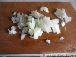 Самый простой суп: Лук очистить и помыть, мелко нашинковать.